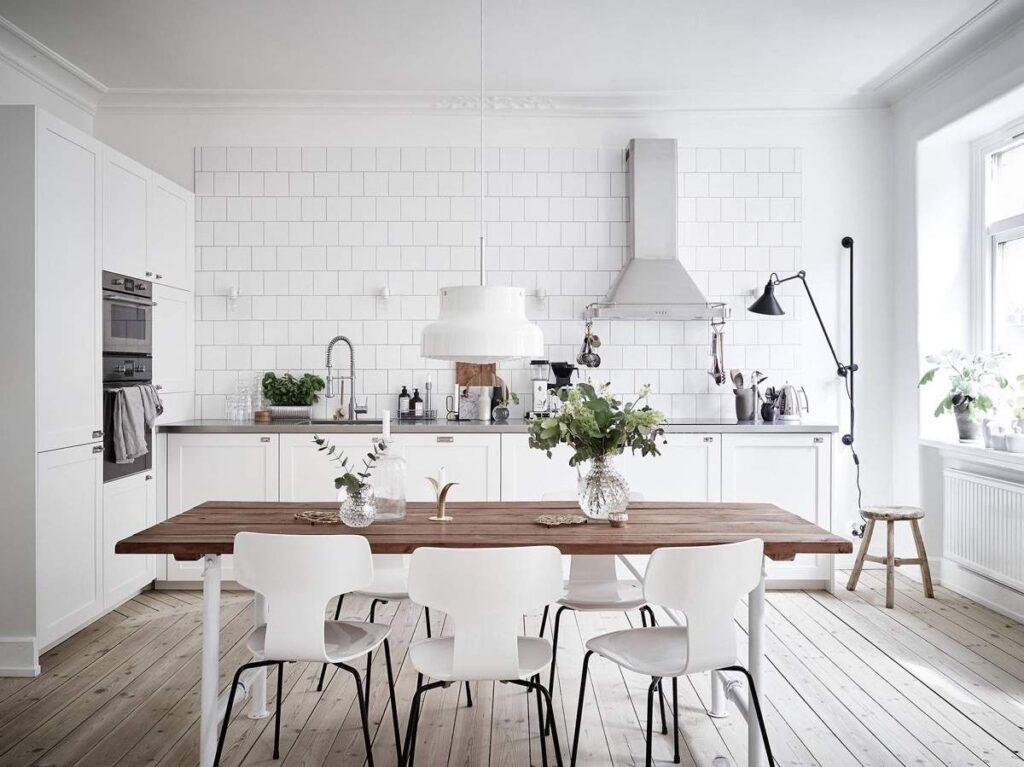 light-wooden-floor-white-brick-Scandinavian-kitchen
